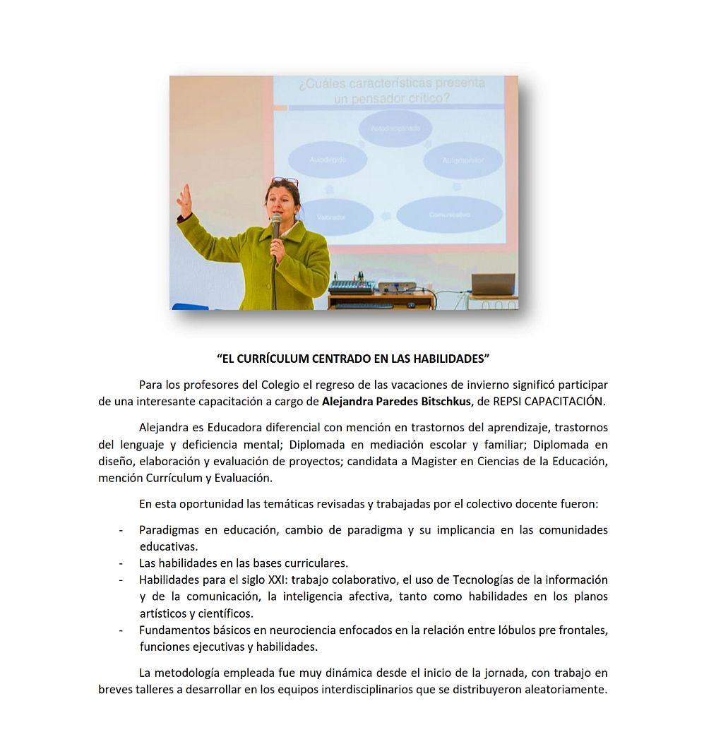 Colegio Capellan Pascal - Detalle de Contenido Segunda Convocatoria ...