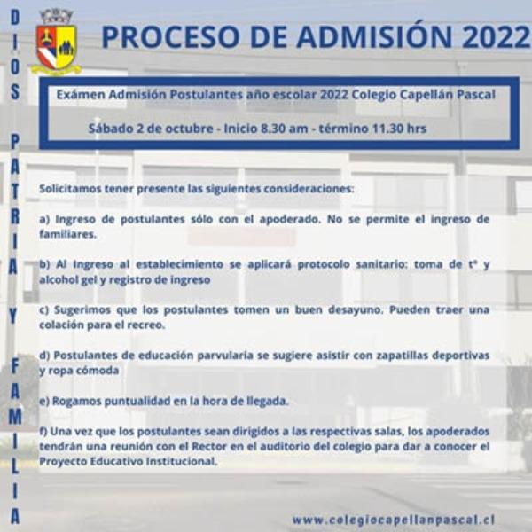 Información Postulantes 2022